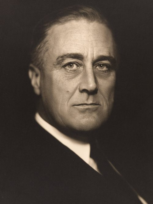 FDR is elected for a second US presidential term with an increased share of the vote