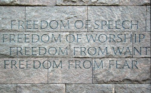 "President Roosevelt – Delivers the ""Four Freedoms"""