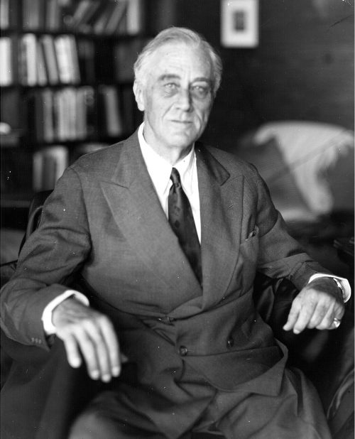 President Franklin D. Roosevelt dies