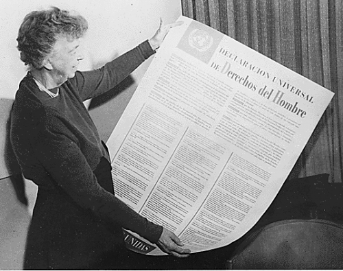 Eleanor Roosevelt joined the United Nations Human Rights Division