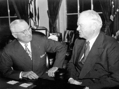 President Harry S. Truman and President Herbert Hoover