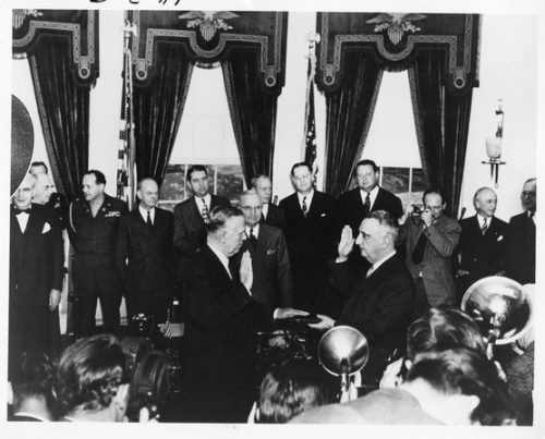 George C. Marshall – sworn in as Secretary of State