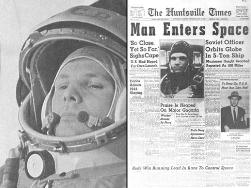 The first man in space – Yuri Gagarin
