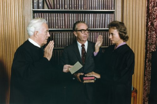 Sandra Day O'Connor is Sworn in as Supreme Court Justice
