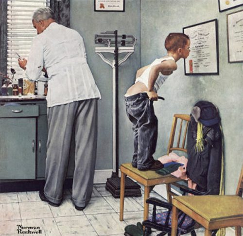 "Rockwell's Illustration ""Before the Shot,"" published cover"