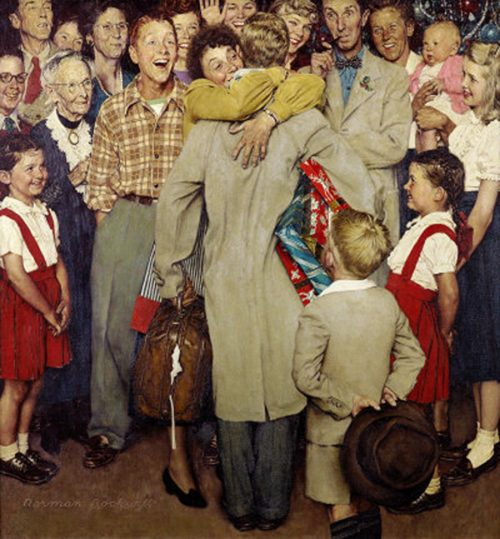 "Norman Rockwell's ""Christmas Homecoming,"" published cover"