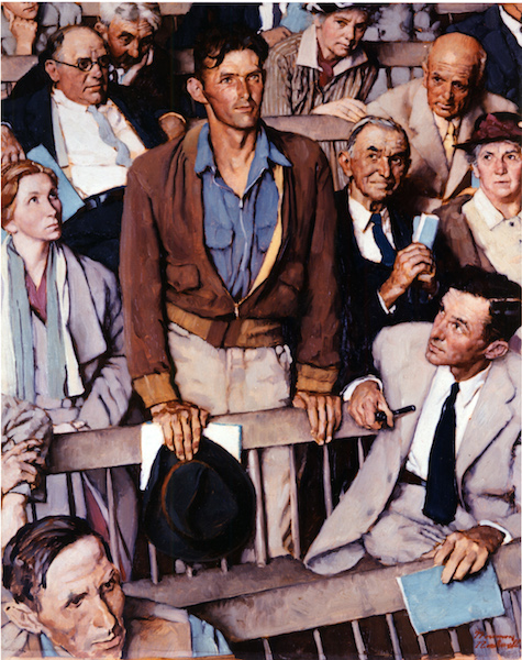 Arlington Barber Shop >> Norman Rockwell Four Freedoms paintings inspired by Franklin Roosevelt