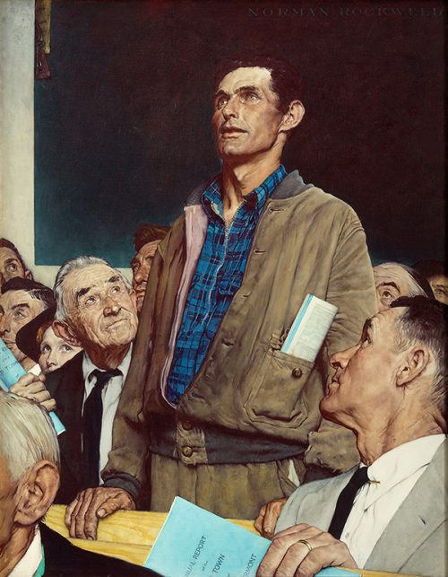 "Rockwell's ""Freedom of Speech,""  published illustration"