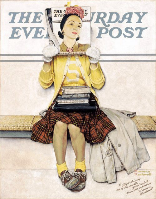 "Rockwell's ""Girl Reading the Post,"" published cover"