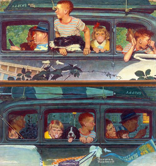 "Rockwell Illustrates ""Going and Coming,"" published cover"