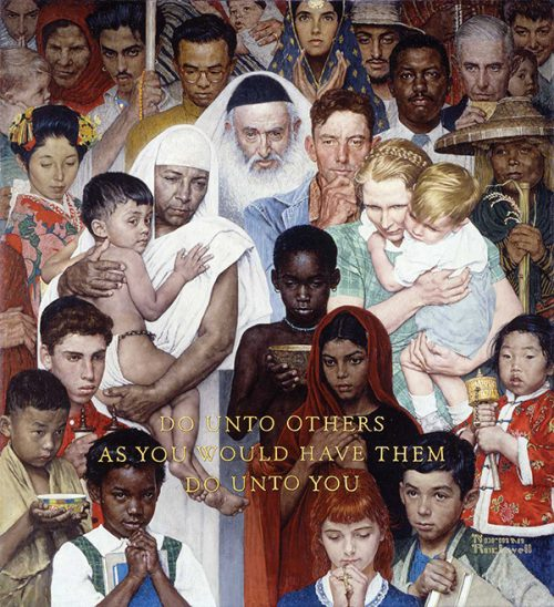"Rockwell's ""The Golden Rule,"" published cover"