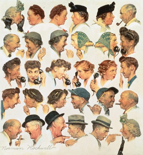 "Rockwell's ""The Gossips,"" published cover"