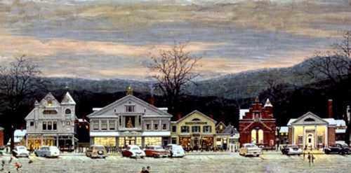 "Rockwell's ""Stockbridge Main Street"""