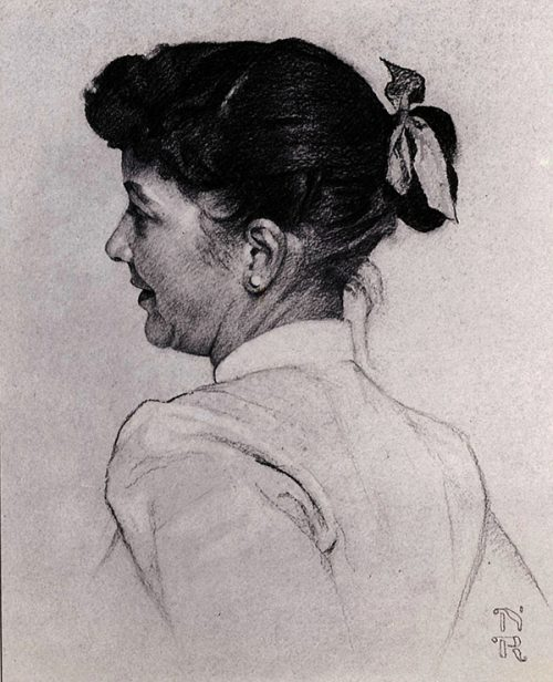 "Rockwell's ""Portrait of Mary Barstow Rockwell"""
