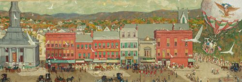"Rockwell's ""Pittsfield Main Street"""
