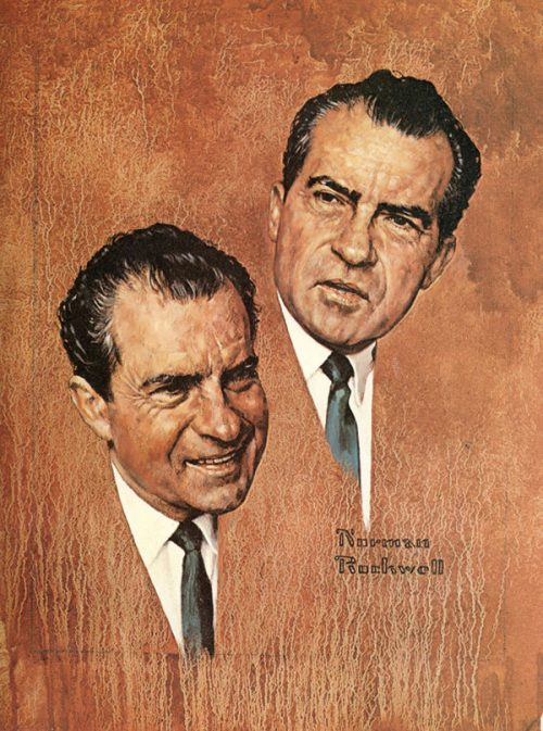 """Portrait of Richard Nixon"""
