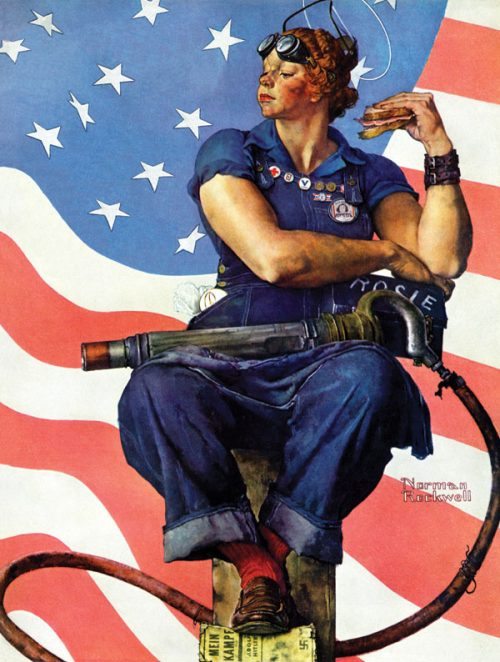 "Rockwell's ""Rosie the Riveter,"" published cover"