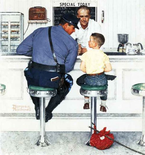 "Rockwell's Illustration ""The Runaway,"" published cover"