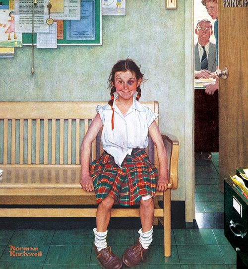 "Rockwell's Illustration ""Girl with Black Eye (The Shiner),"" published cover"