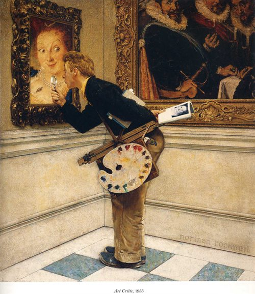 "Rockwell's Illustration ""Art Critic,"" published cover"