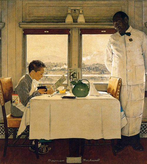 "Rockwell's Illustration ""Boy in Dining Car,"" published cover"