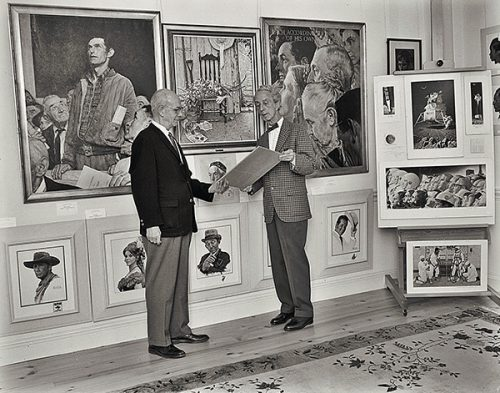 Old Corner House opens to public featuring 35 paintings loaded by Rockwell