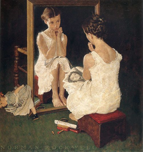 "Rockwell's Illustration ""Girl at Mirror,"" published cover"