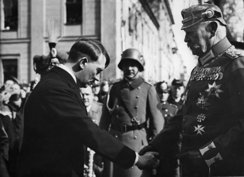 President Hindenburg appoints Adolf Hitler chancellor of the German republic