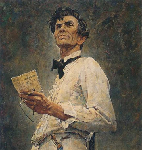 "Rockwell's Illustration ""Lincoln for the Defense,"" published"
