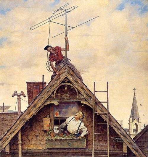 "Rockwell Illustrates ""New Television Antenna,"" published cover"