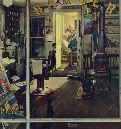 "Rockwell Illustrates ""Shuffleton's Barbershop,"" published cover"