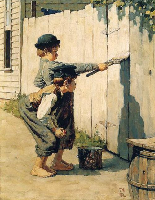 "Rockwell illustrates the Heritage Press Edition of ""Tom Sawyer"""