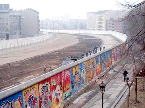 The Berlin Wall is coming down
