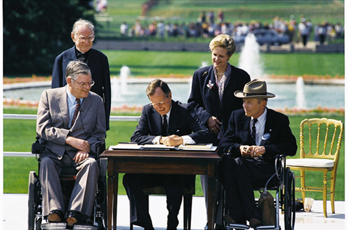 President George H. W. Bush Signs the ADA