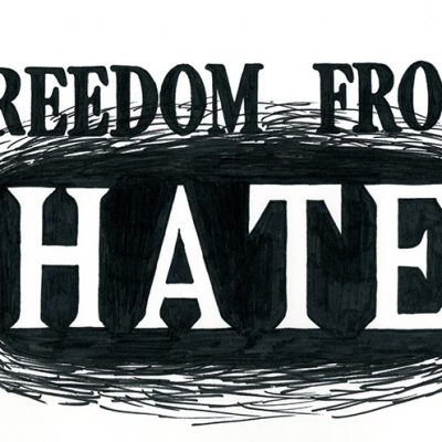 Joanna Chen. Freedom from Hate, 2018. Guilderland Central Schools. ©Joanna Chen All rights reserved.