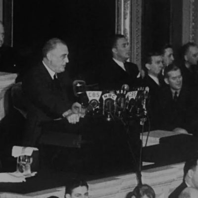 FDR Delivering Four Freedoms Speech