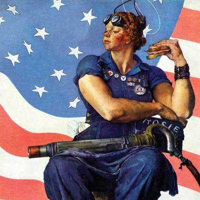 Rosie the Riveter detail