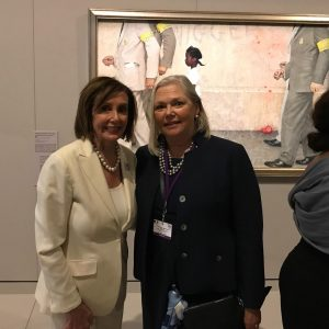 House Speaker Nancy Pelosi in Normandy, France at Le Mémorial de Caen!