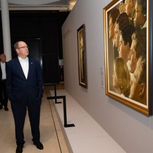 Prince Albert II of Monaco came to the Memorial to discover our exhibition