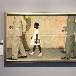 First published on January 14th 1964 for Look Magazine, Norman Rockwell's The Problem We All Live With remains one of the artist's landmark paintings, still poignant and relevant to this day.